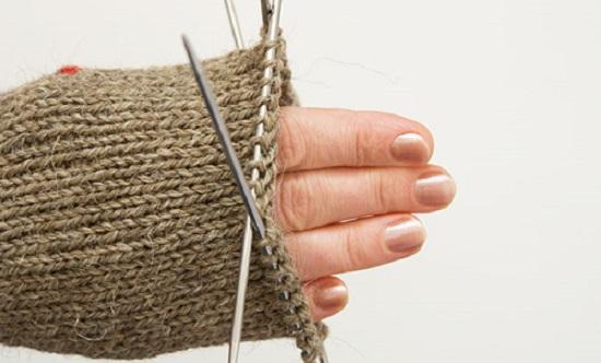 вязание варежки основным узором вкруговую