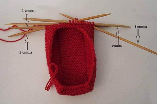 замыкаем полотно в круговое вязание