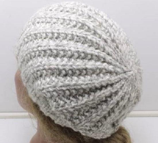 шапка польской резинкой на круговых спицах