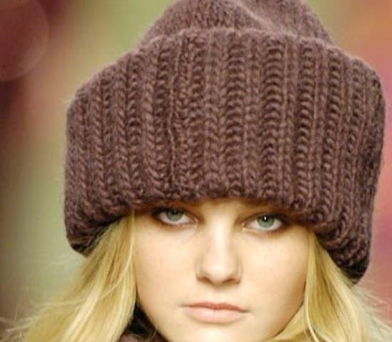 Модная шапка за пару часов