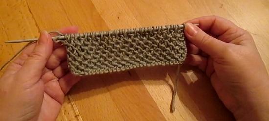 простой узор для мужского свитера спицами