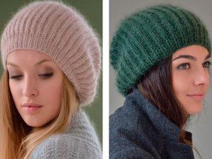 вязание шапочек спицами