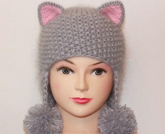 Модная шапка для дочурки