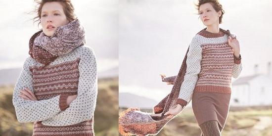 Схема вязания свитера для женщин спицами