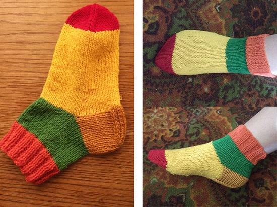 вязание носков на 5 спицах для начинающих