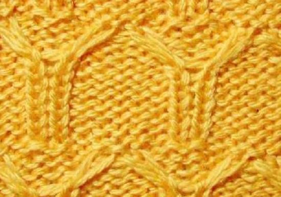 узор, вывязанный со снятыми длинными петельками