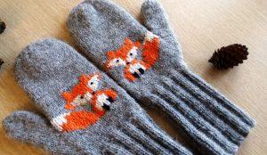 Вязание рукавиц спицами: схемы