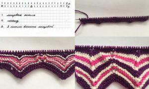 Миссони: вязание узора спицами