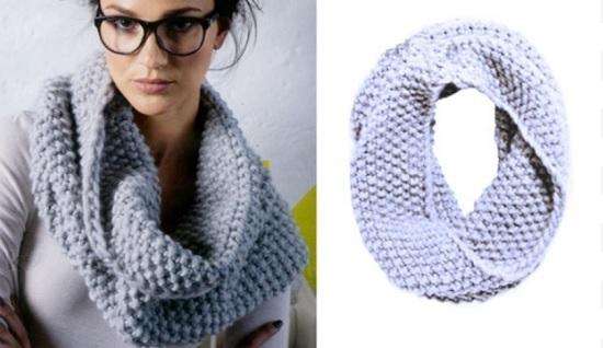 простой однооборотный шарф-хомут
