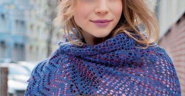 Вязание косынки спицами: схемы