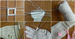 Вязание спицами: перчатки