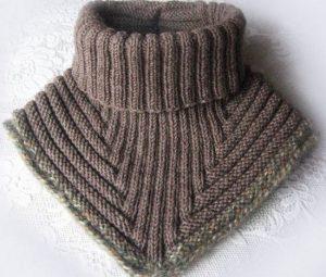 Вязание спицами манишки для детей