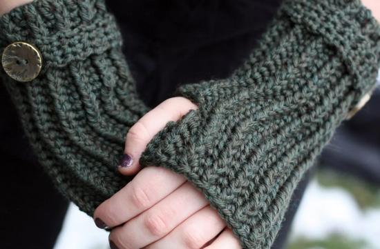 Вязание митенок без пальцев