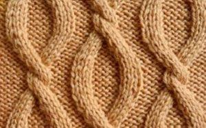 объемные цепи спицами